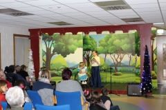Ciara O'Neill and Niamh Buckley perform in the Teens Club performance of Alice in Wonderland