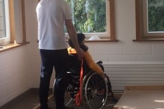 Jenn aided by Turas Saol instructor Jack O'Halloran