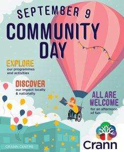 crann, community day, open day, invitation, welcome, ballincollig, cork, spina bifida, hydrocephalus