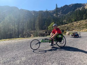 Jack Squibb out with his Track Chair